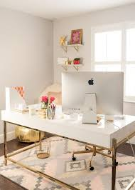 White Modern Desk Interior Pink Office Home Modern Design Desks For Offices