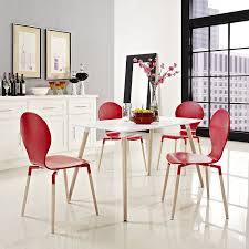 White Modern Dining Room Sets Amazon Com Modway Field Dining Table White Tables