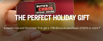 ruth chris steakhouse gift card 2016 restaurant retail gift card promotions hip2save