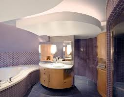 bathrooms ultra modern purple bathroom with tiles wall and