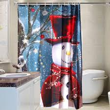 amazon com mocoosy snowman christmas shower curtain polyester amazon com mocoosy snowman christmas shower curtain polyester fabric with 12 plastic hooks an 12 stainless steel hooks baby shower curtains set christmas