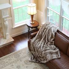 Faux Fur King Size Blanket Luxurious Long Hair Champagne Fox Faux Fur Throw Blanket Sofa Bed