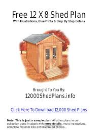 Free Wood Shed Plans Materials List by Wooden Sheds