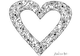 elanise art flowers in a heart simple elanise art coloring