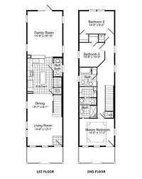 narrow cottage plans narrow lot floor plans floor inc plannarrow lot house floor