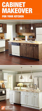 home depot kitchen cabinets refinishing a cabinet makeover with the home depot can give your space a