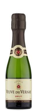 veuve du vernay brut mini chagne bottle personal wine