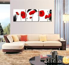 poppy home decor 3 pieces set modern wall art print canvas painting red poppies