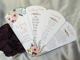 personalized fans for weddings petal fan programs