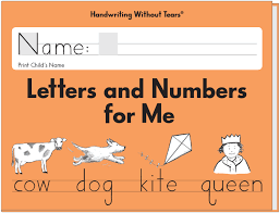 letters and numbers for me learning without tears