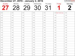 Weekly Calendar Template Excel Weekly Calendar 2016 Excel Weekly Calendar Template