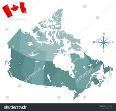Canada Provinces Map by Map Canada Regions Provinces Stock Vector 116233423 Shutterstock