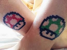 mario power up mushrooms mario tattoo and piercings