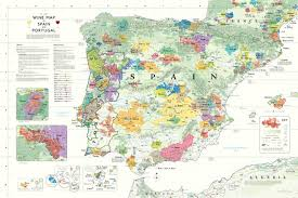Spain Map World by Wine Map Of Spain U0026 Portugal