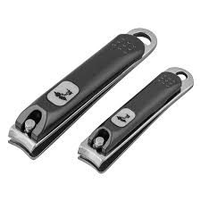 stainless steel nail clipper and nail file with pouch