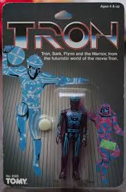 tomy u0027s tron action figures flynn sark warrior tron 1981