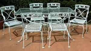 Wrought Iron Patio Table Set Gorgeous Vintage Wrought Iron Outdoor Furniture A Salterini 7 Pc