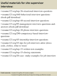Sample Resume For Civil Site Engineer by Top 8 Site Supervisor Resume Samples