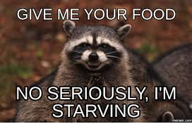 Meme Seriously - give me your food no seriously i m starving memesc starving meme