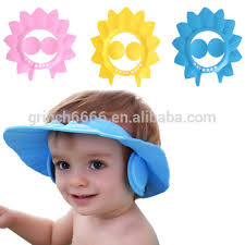 baby shower cap safe shoo baby shower cap bathing bath protect soft visor cap