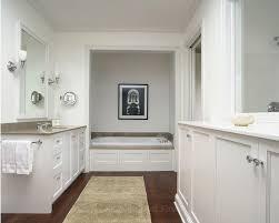 Best White Bathrooms Images On Pinterest Bathroom Ideas Room - Hardwood flooring in bathroom