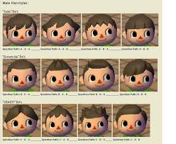 acnl starter hair guide game stuff on pinterest animal crossing design patterns and