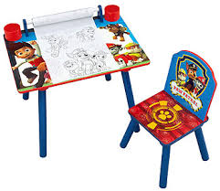 paw patrol kids table set nickelodeon paw patrol art desk with paper roll toys r us