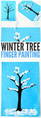 winter tree finger painting easy peasy and fun