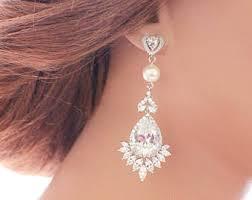 Chandelier Earrings Etsy Long Crystal Earring Etsy
