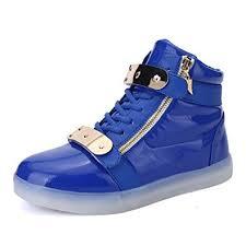 light blue shoes womens amazon com annabelz led shoes high top men women light up shoes