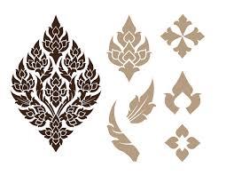 thai contemporary motif design on behance pattern pinterest