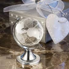 Travel Themed Wedding Crystal Globe Travel Themed Wedding Favors