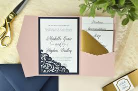 pocket wedding invites lace laser cut wedding invitation cards pockets design idea