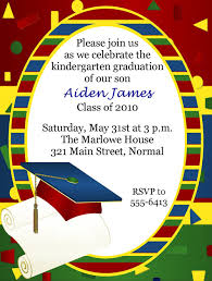 kindergarten graduation cards graduation invitations