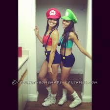 and simple mario and luigi couple costume for women