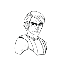 Coloriage Anakin Skywalker S Coloriage A Imprimer Star Wars Anakin