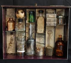 Apothecary Home Decor by Decorated Potion Bottles
