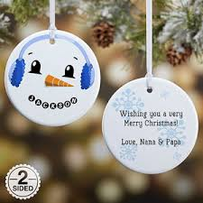 personalized 2 sided snowman ornament gifts