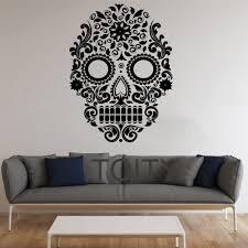 popular mexican wall murals buy cheap mexican wall murals lots sugar skull wall stickers mexican art vinyl decals home interior decor design teen living room bedroom