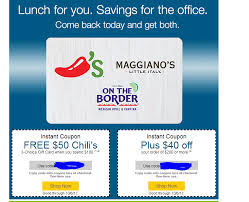 chili gift card ymmv requires personalized emailed code free 50 chili s on the