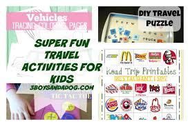 road trip printable activities for kids u2013 3 boys and a dog