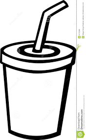 bolt colouring pages 10 drinking cup with straw coloring page