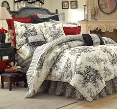 Black And White Toile Duvet Cover Bouvier French Toile Black White Duvet Cover Dvq2950 Dvhomedecor