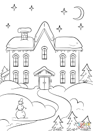 coloring pages page house haunted preschool up lightofunity