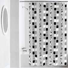 Black Grey And White Shower Curtain Mainstays Squares Peva Shower Curtain Walmart Com