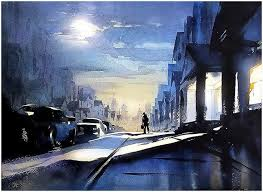 watercolor paintings by los angeles based artist w schaller