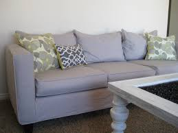 Grey Slipcover Sofa by Designed To The Nines Guest Blogger Shelley Anderson On