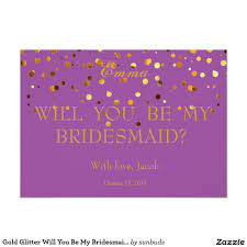 bridesmaids invitation glitter will you be my bridesmaid invitation