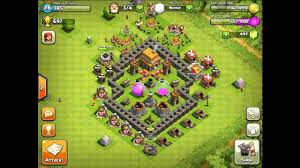 coc village layout level 5 clash of clans town hall level 5 best defense strategy youtube