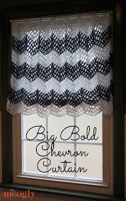 Chevron Pattern Curtain Panels Big Bold Chevron Curtain Perfect For Any Window Free Crochet